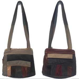 Boho Patchwork Leather Vintage 1970s Purse